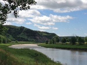 Little Missouri River in Cottonwood Campground in Theodore Roosevelt National Park, ND