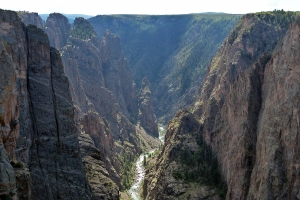 We camped for the night at the north rim just yards from the edge of this incredible gorge.