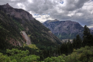Today I went on a 4-mile hike from our campground in Ouray. This is one of the views of the mountains surrounding us.